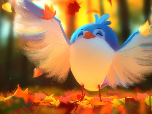 Милые птицы цифровое искусство