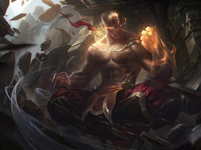 Бог кулак ли Син Лига легенд искусства