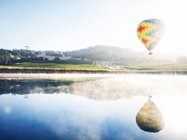 Горячий воздух воздушный шар размышления.