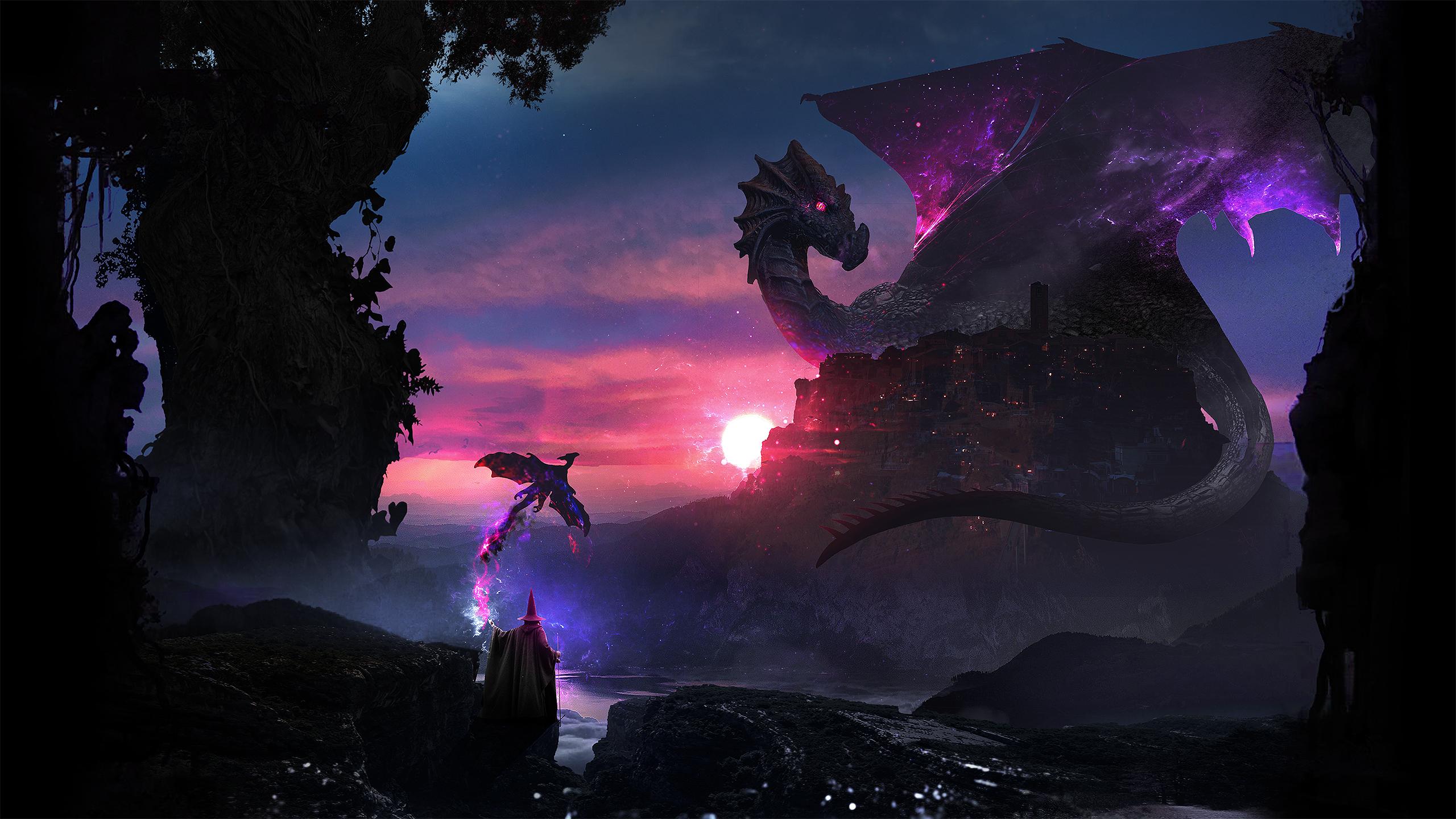 Дракон-хранитель обои скачать