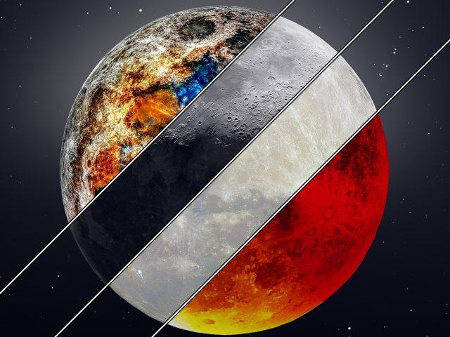 Минеральные супер серповидные Луны крови