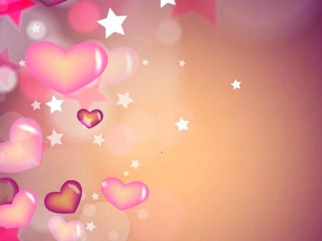 3d сердца звезды Любовь абстракция