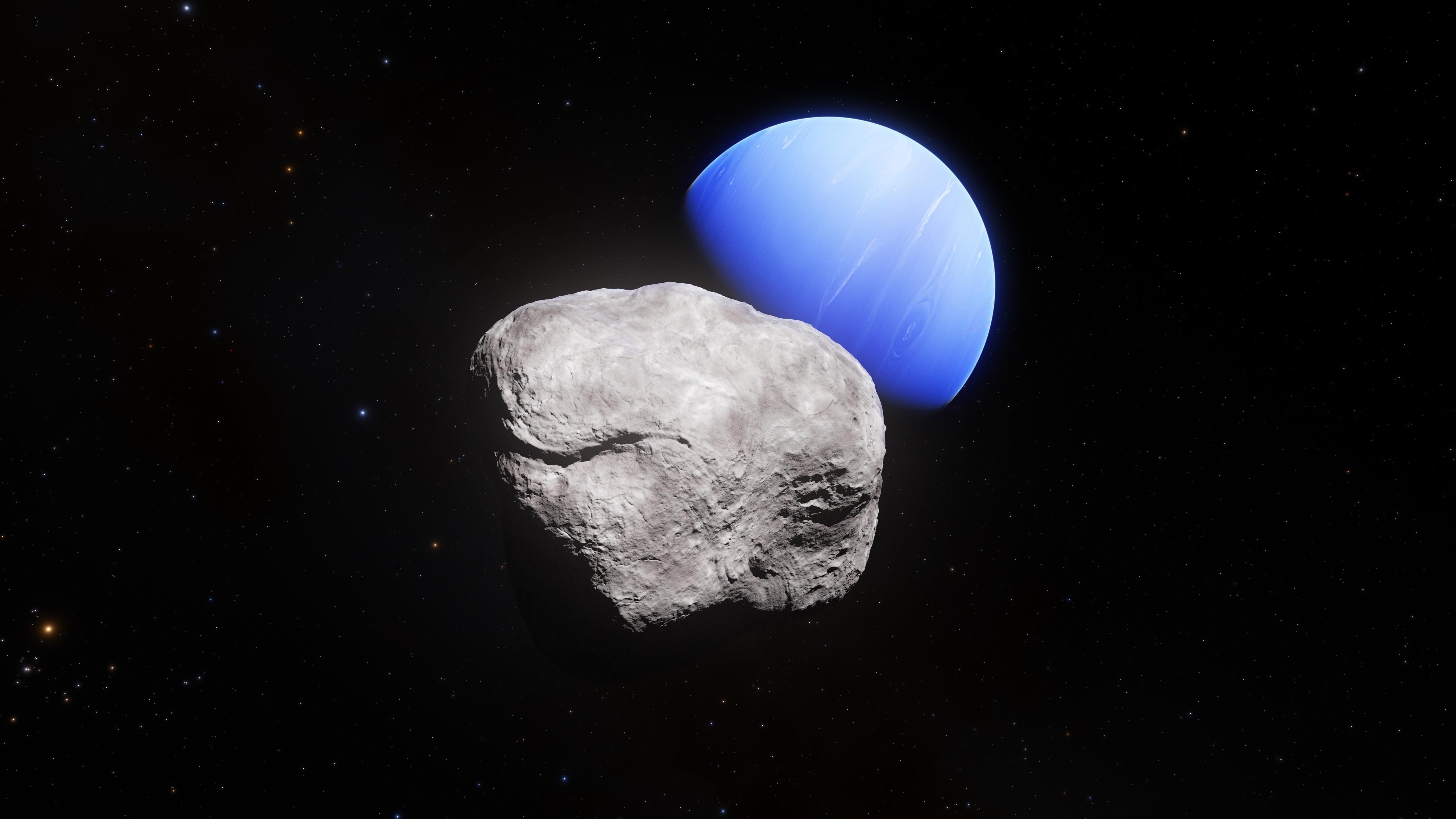 Нептун Луна гиппокамп обои скачать