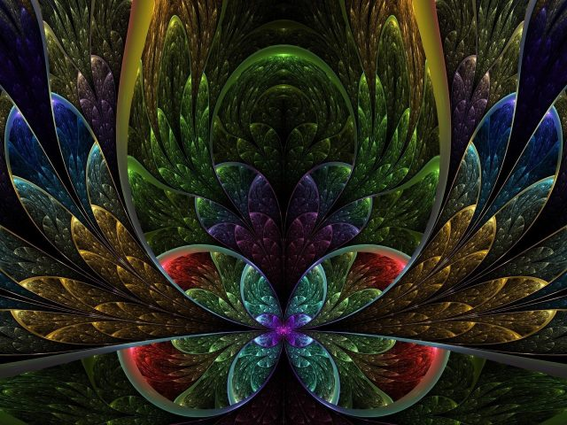 Красочные фрактальный цветок аннотация