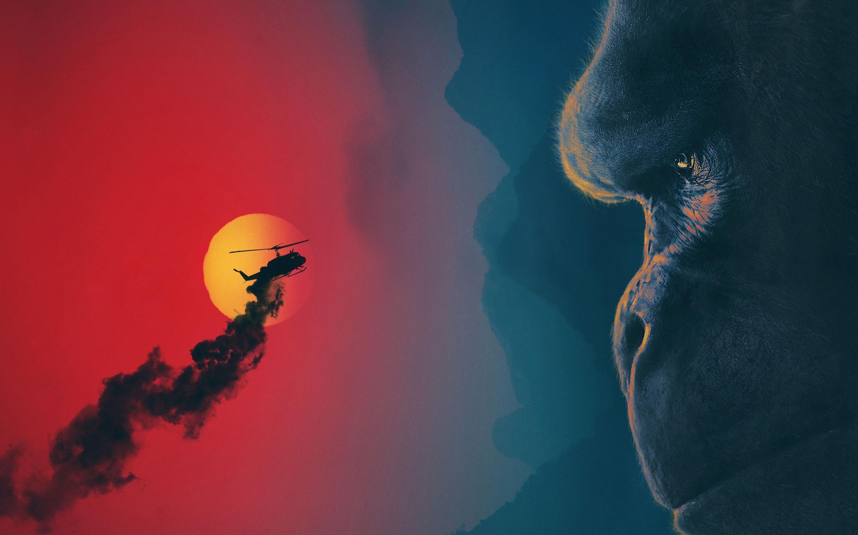 Kong skull island movie. обои скачать