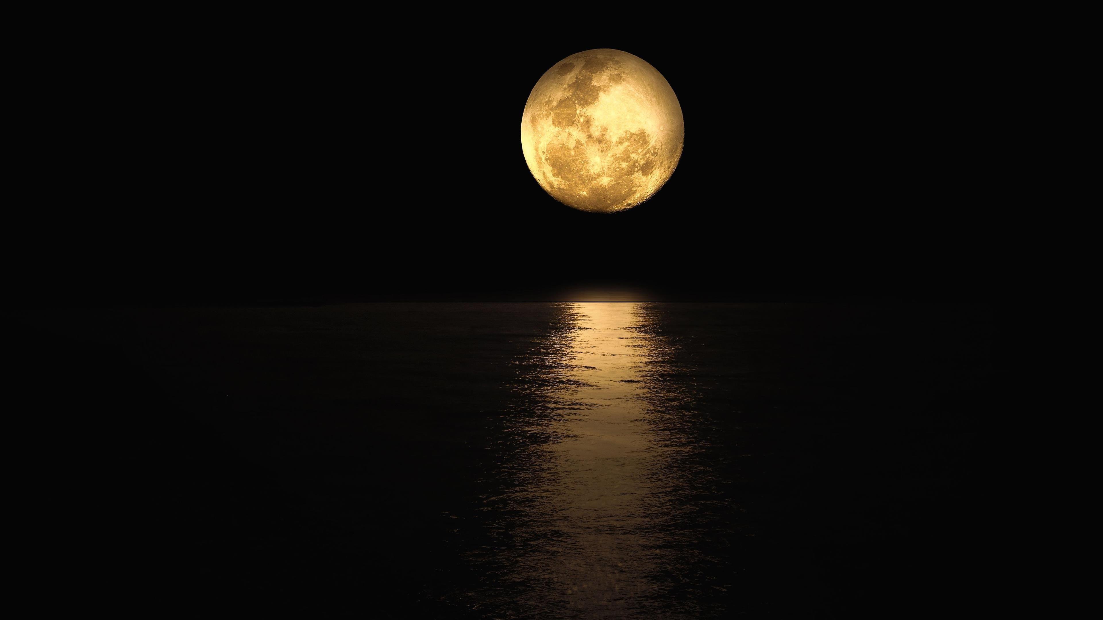 Отражение лунного света обои скачать