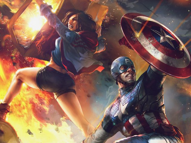 Обложка «Америка Чавес» и «Капитан Америка»