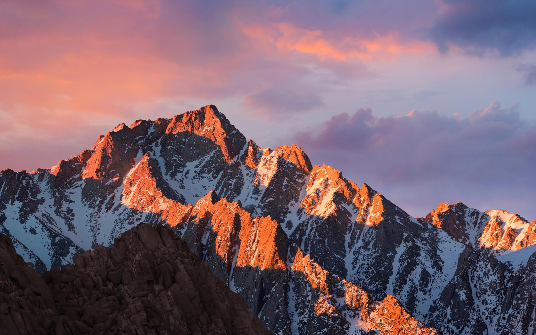 Акции и MacOS горы Сьерра обои скачать