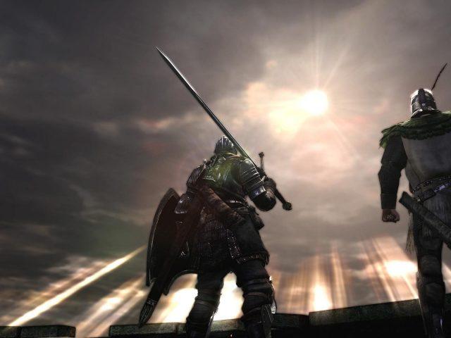Темные души воинов, видя Восход игр