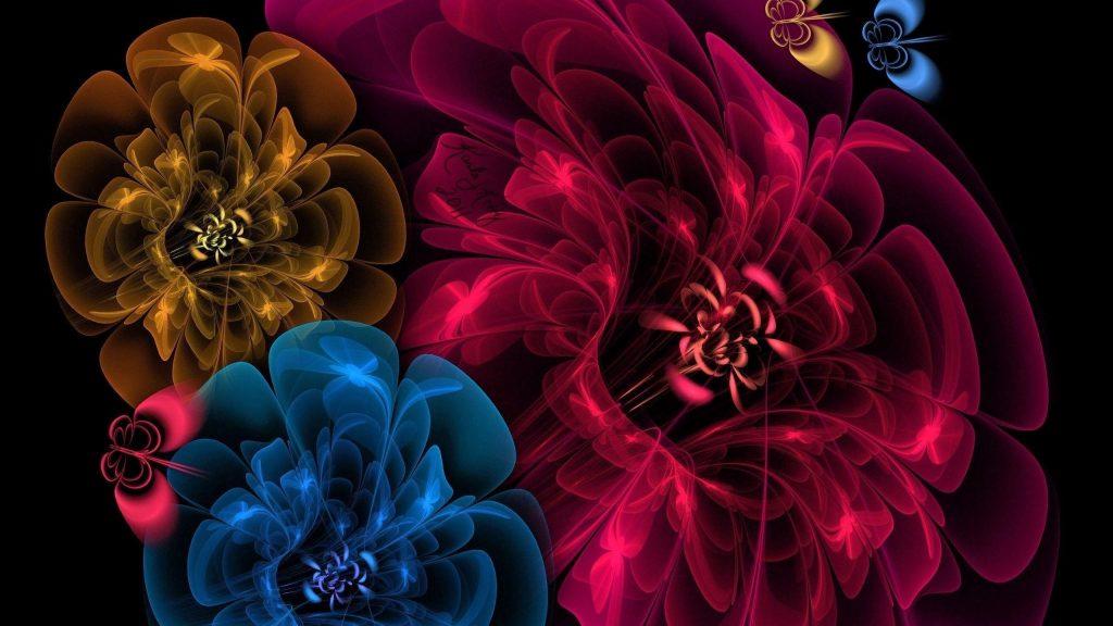 Цветы вуаль темный фон абстракция обои скачать