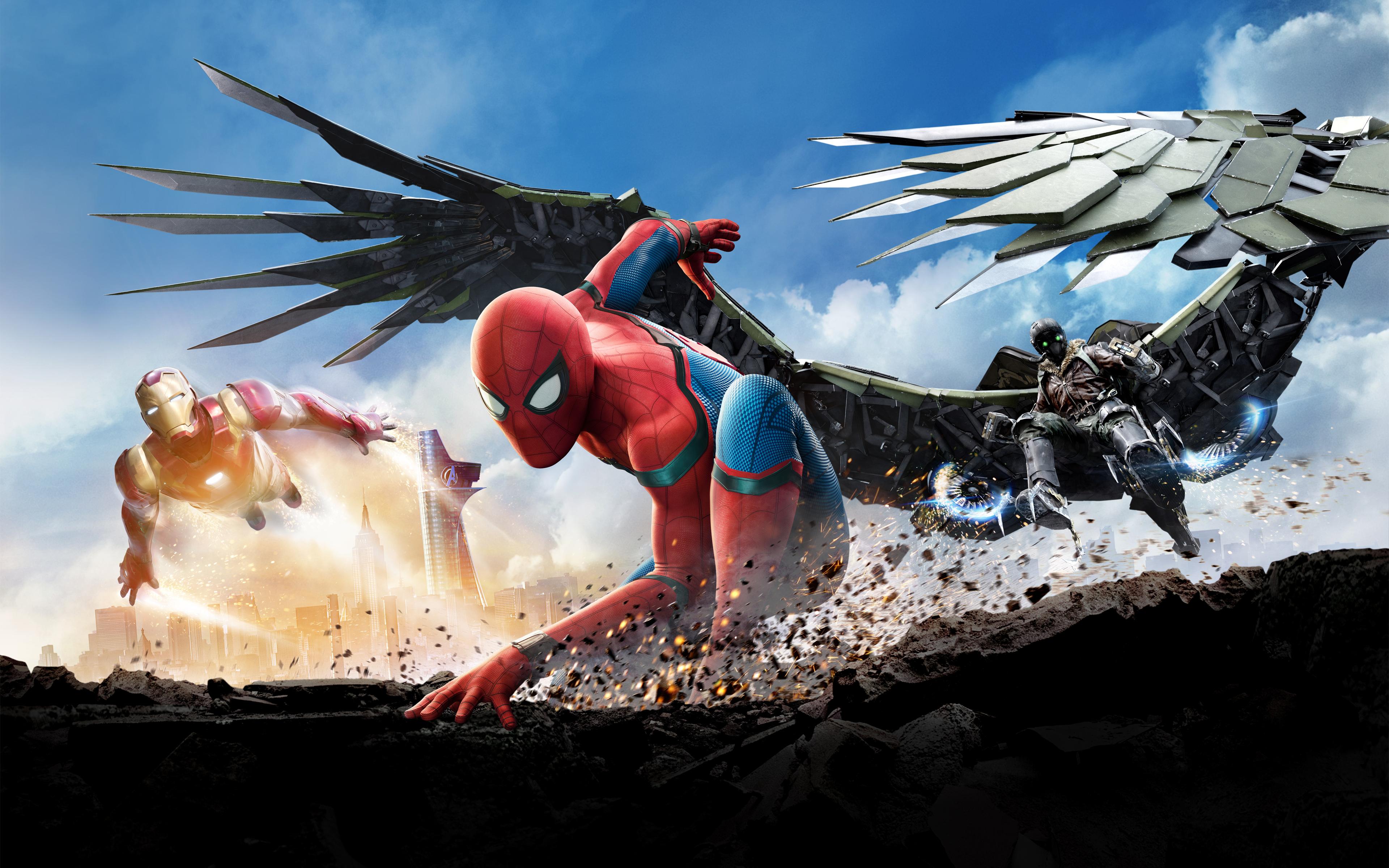 Человек-паук возвращение 4к 8к. обои скачать