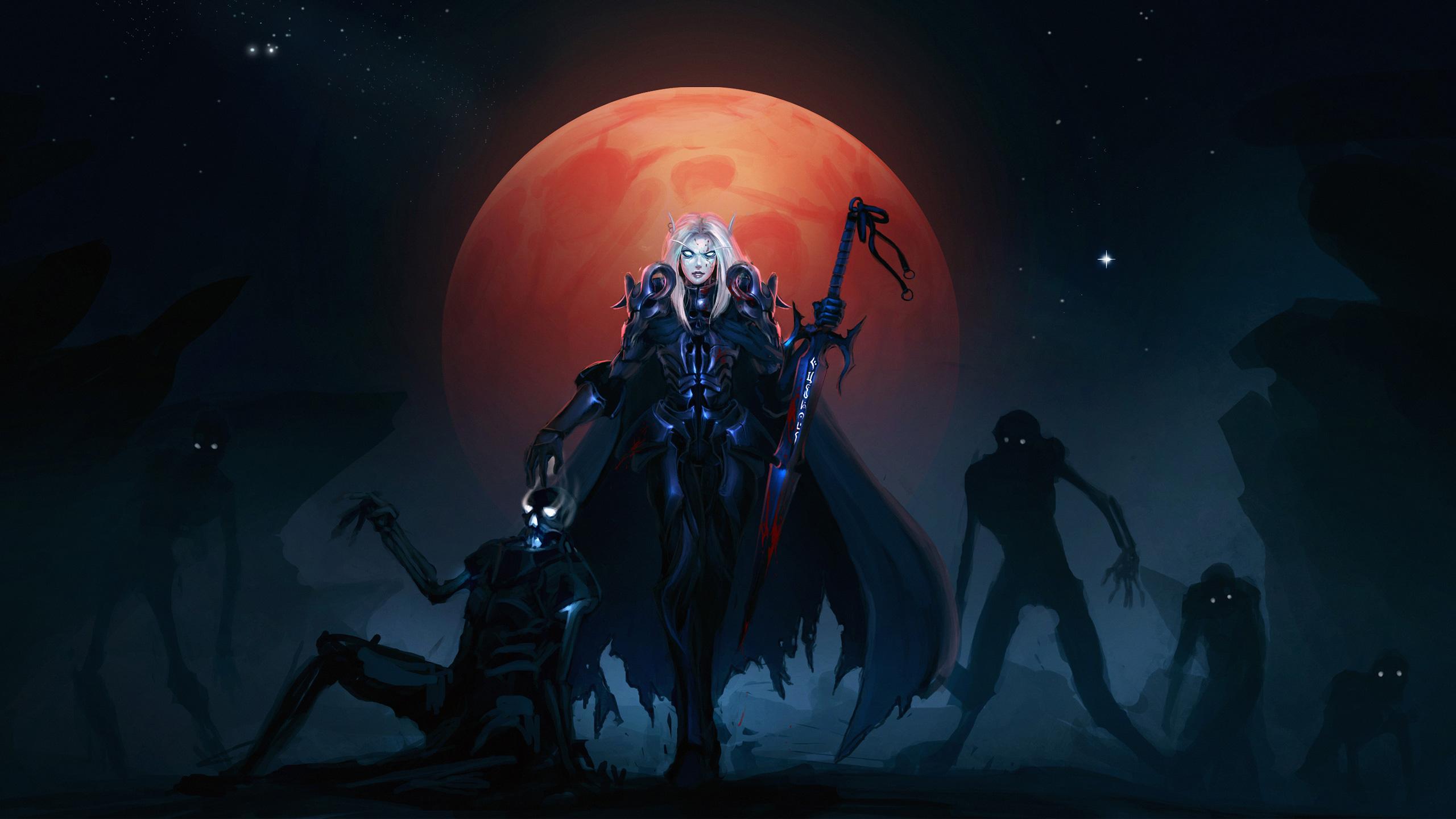 Мир Warcraft эльф крови. обои скачать