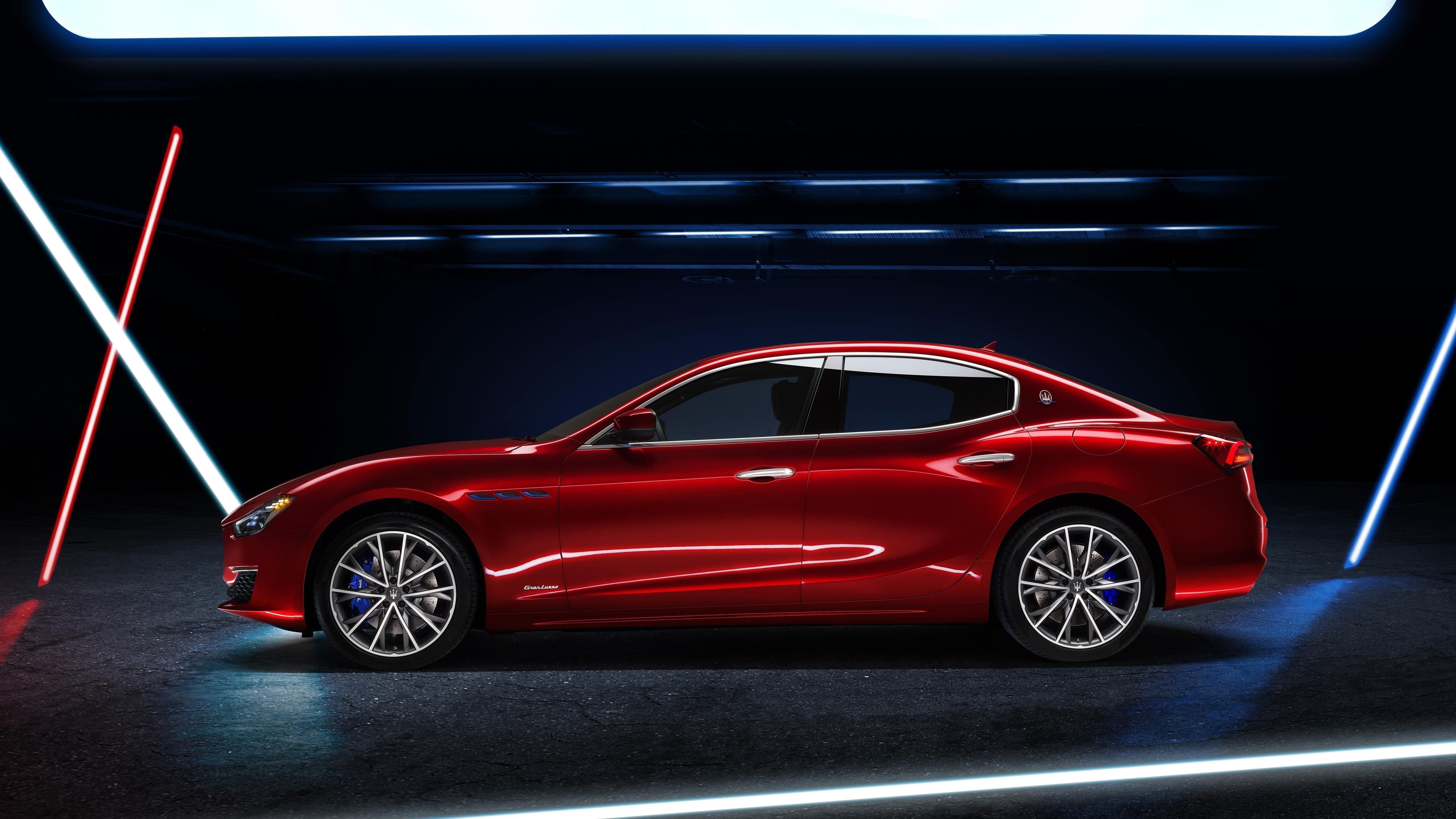 Maserati ghibli gran lusso hybrid 2020 автомобили обои скачать