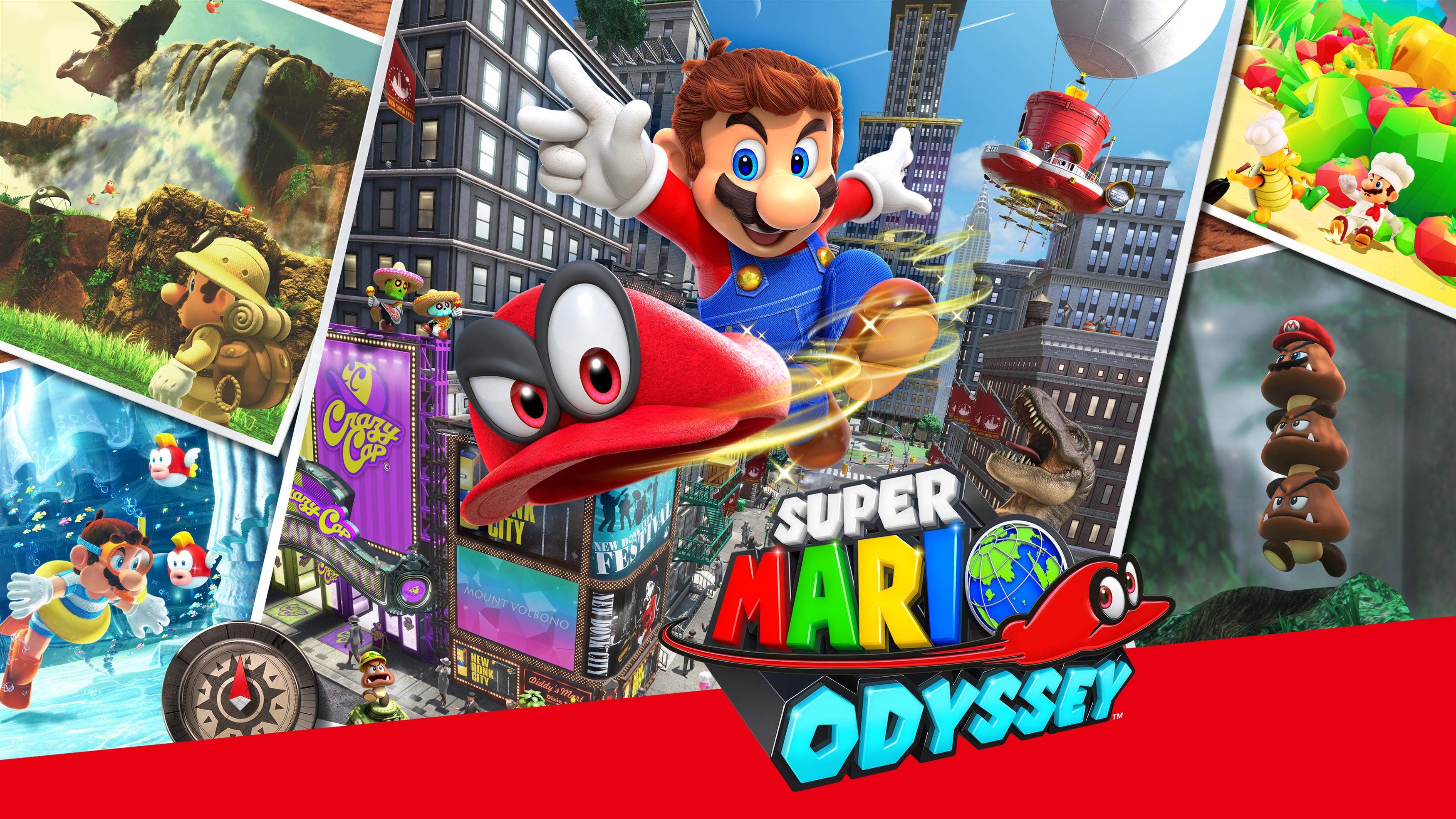 Супер Марио Одиссея обои скачать