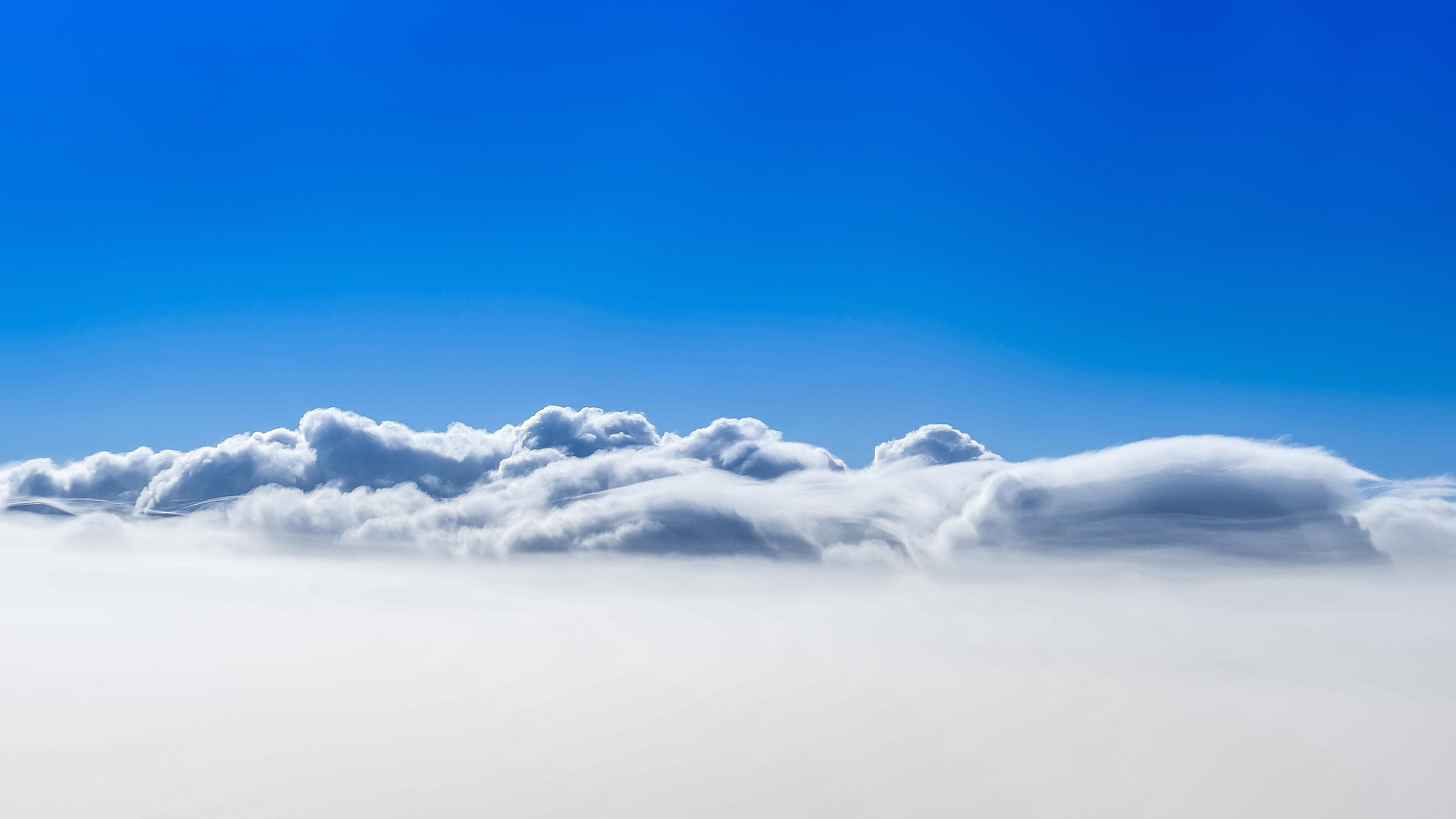 Облака голубое небо. обои скачать