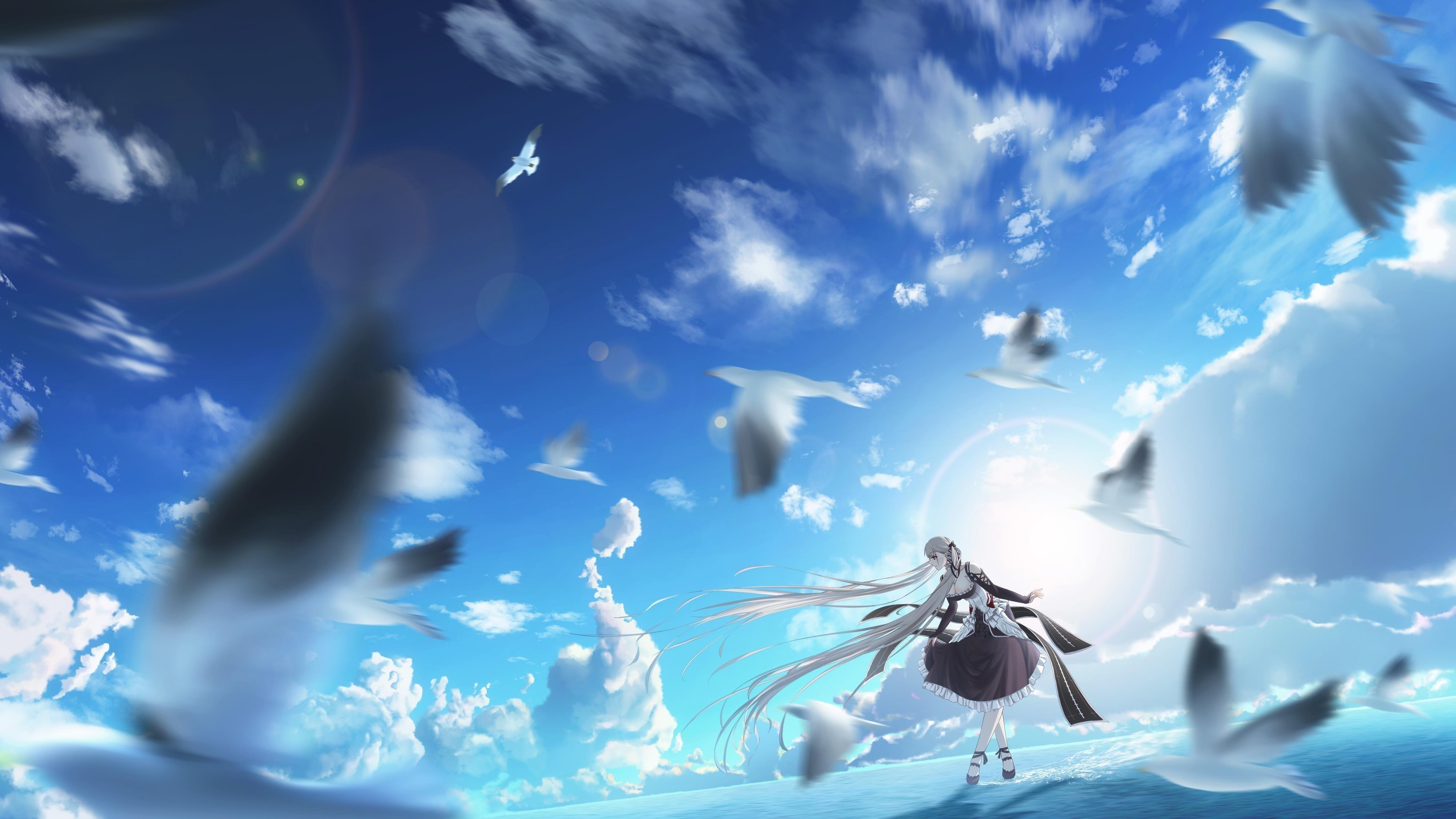 Грозный Азур Лейн аниме девушка обои скачать