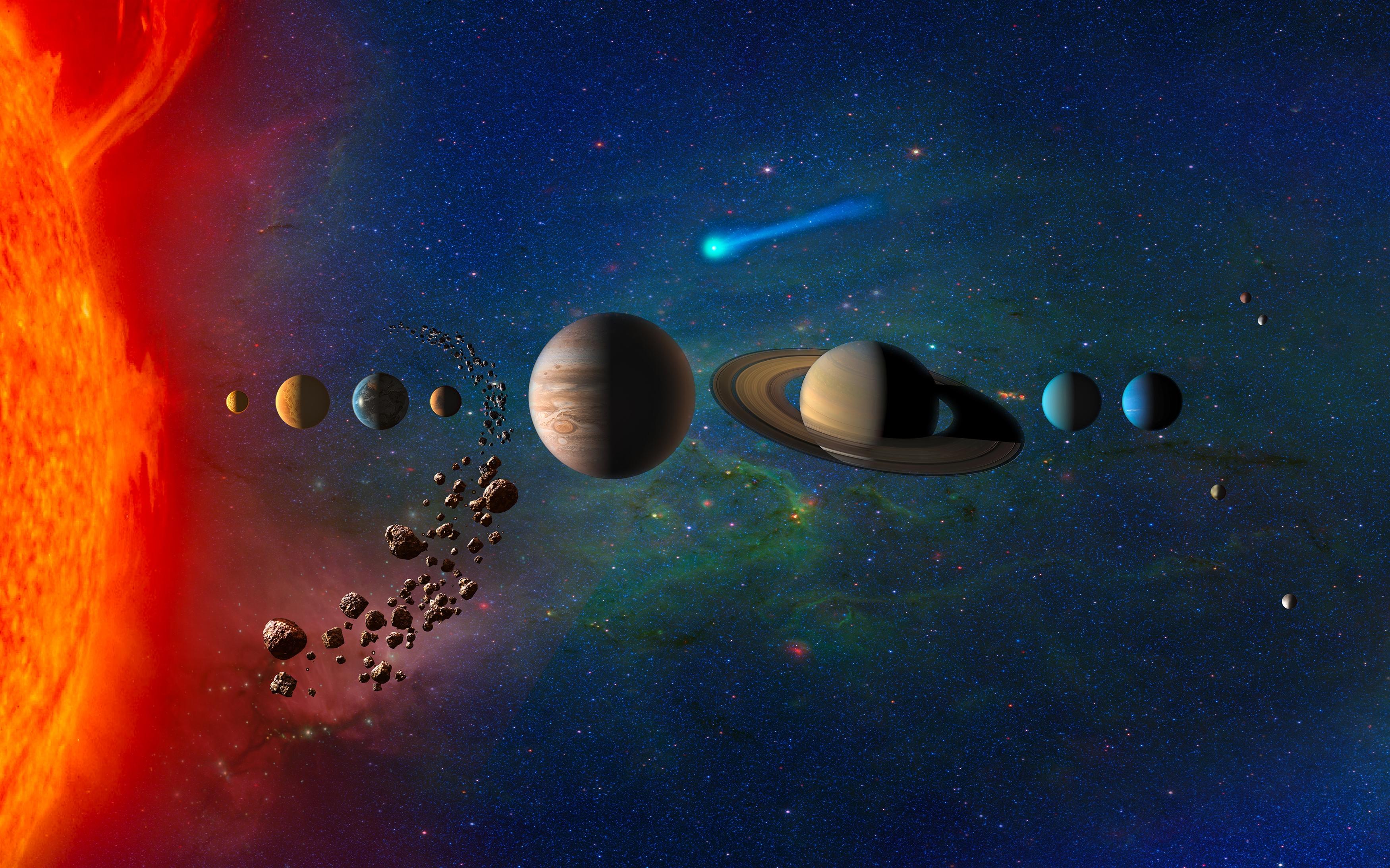 Планеты в Солнечной системе обои скачать