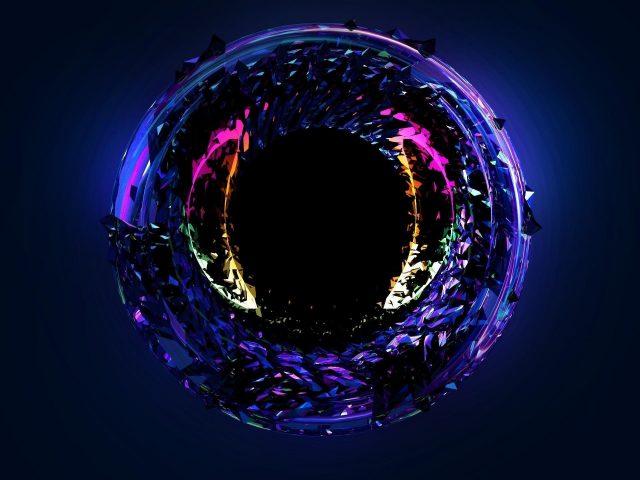 Абстрактный неоновый глаз