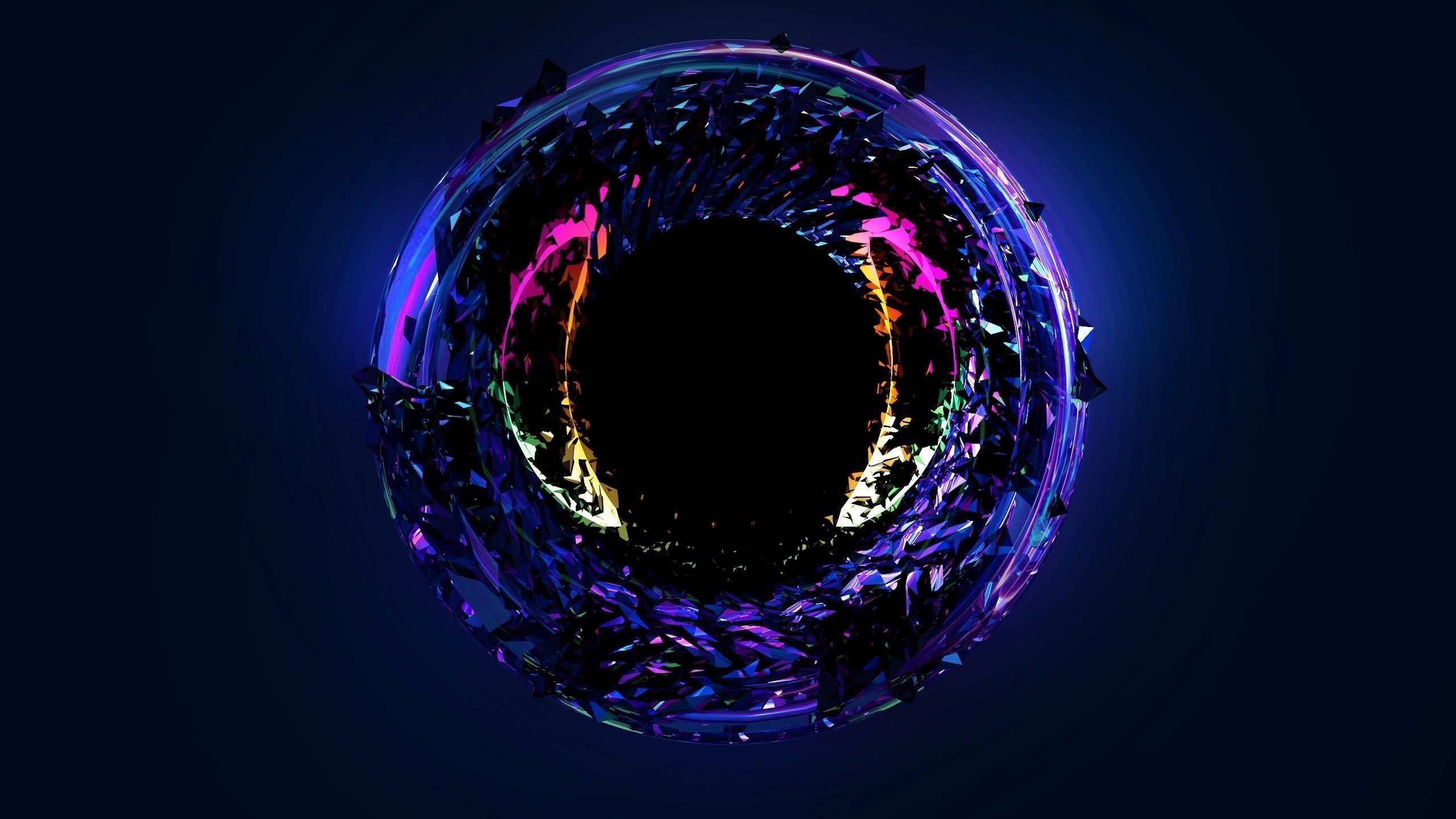 Абстрактный неоновый глаз обои скачать