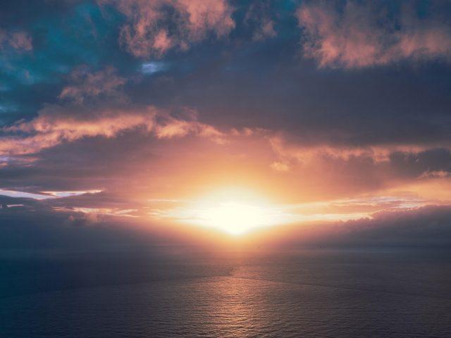 Закат горизонт морской пейзаж