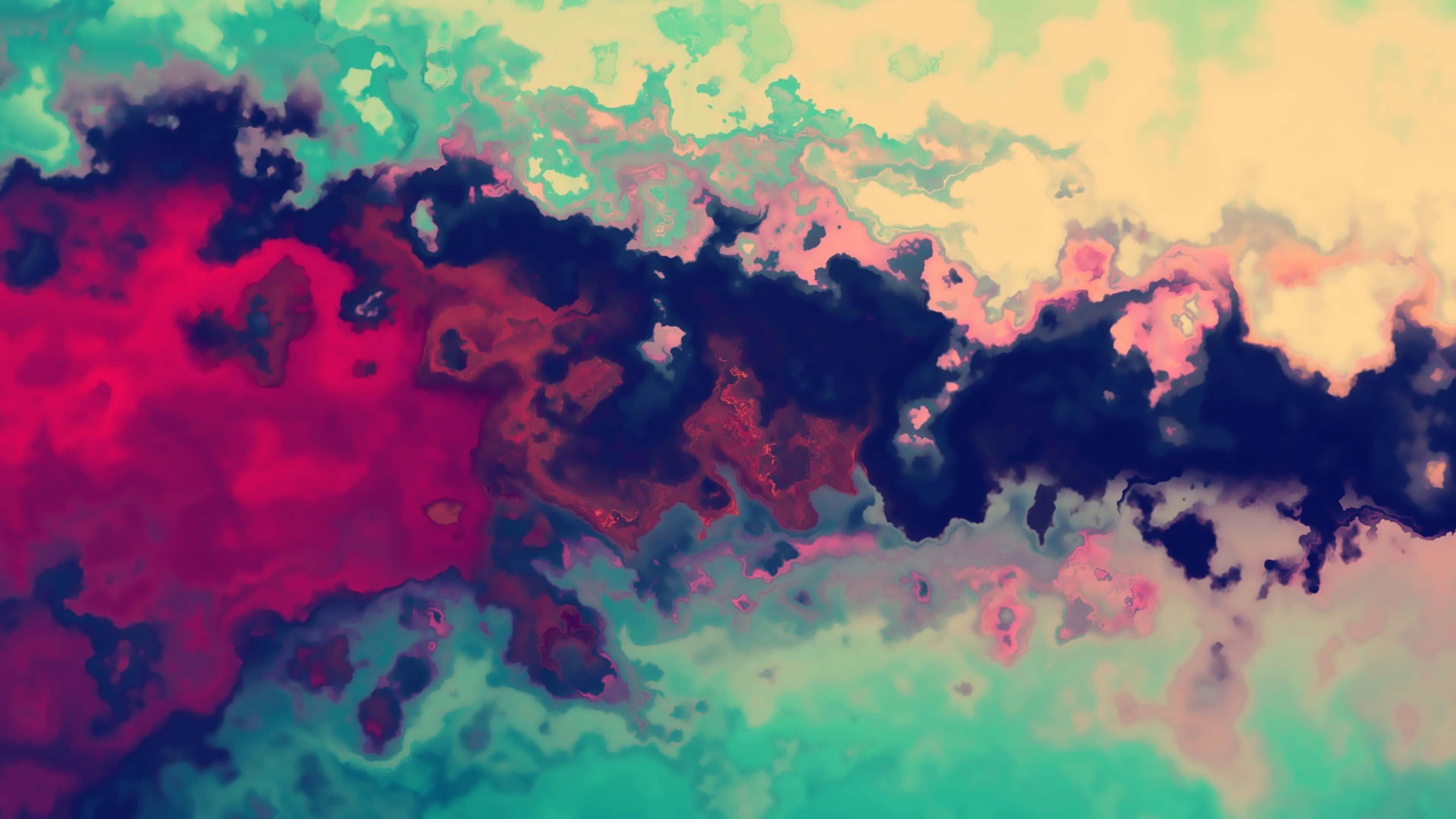 Психоделическая черная красная розовая краска абстракция обои скачать