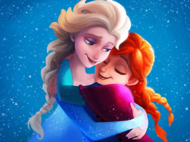 Замороженные сестры elsa Анна