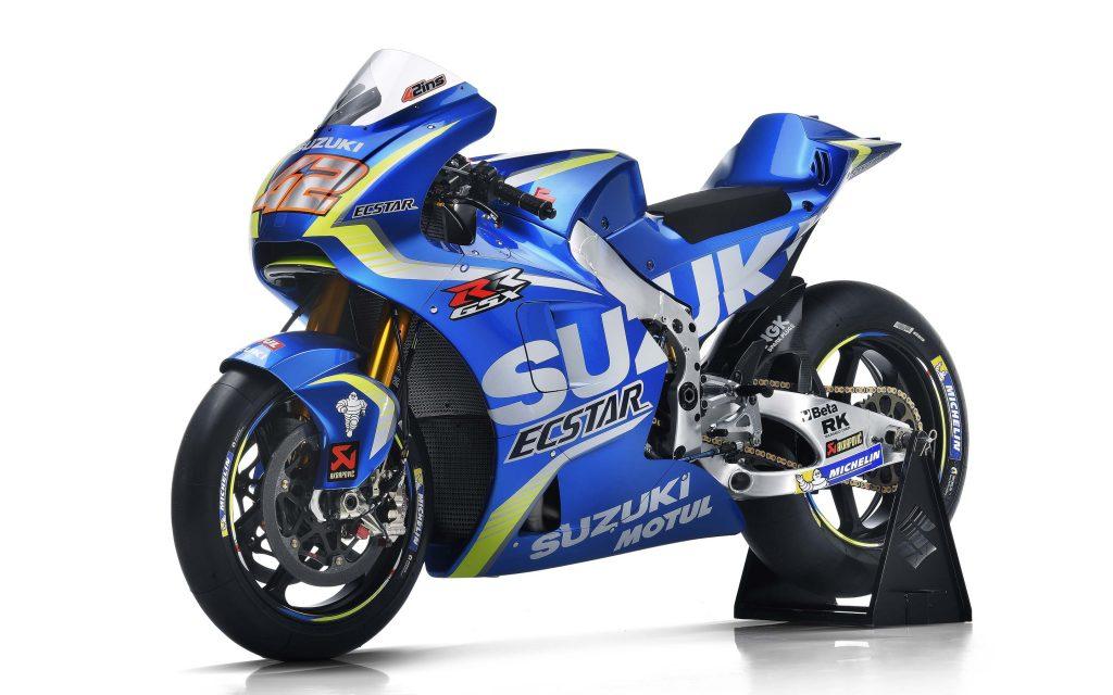 Команда на Suzuki ecstar MotoGP в велосипед. обои скачать