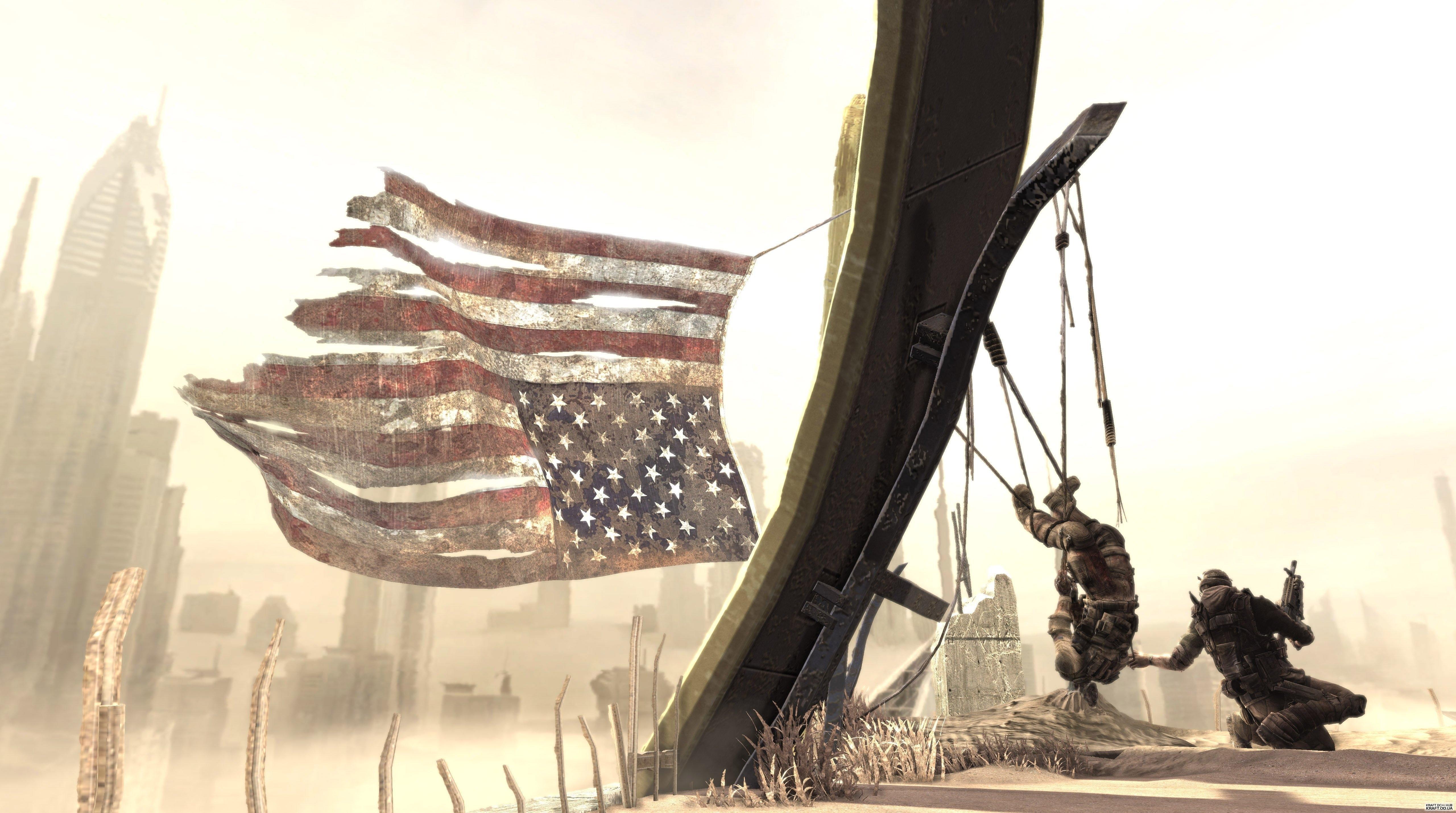 Spec Ops:The Line, американский флаг обои скачать