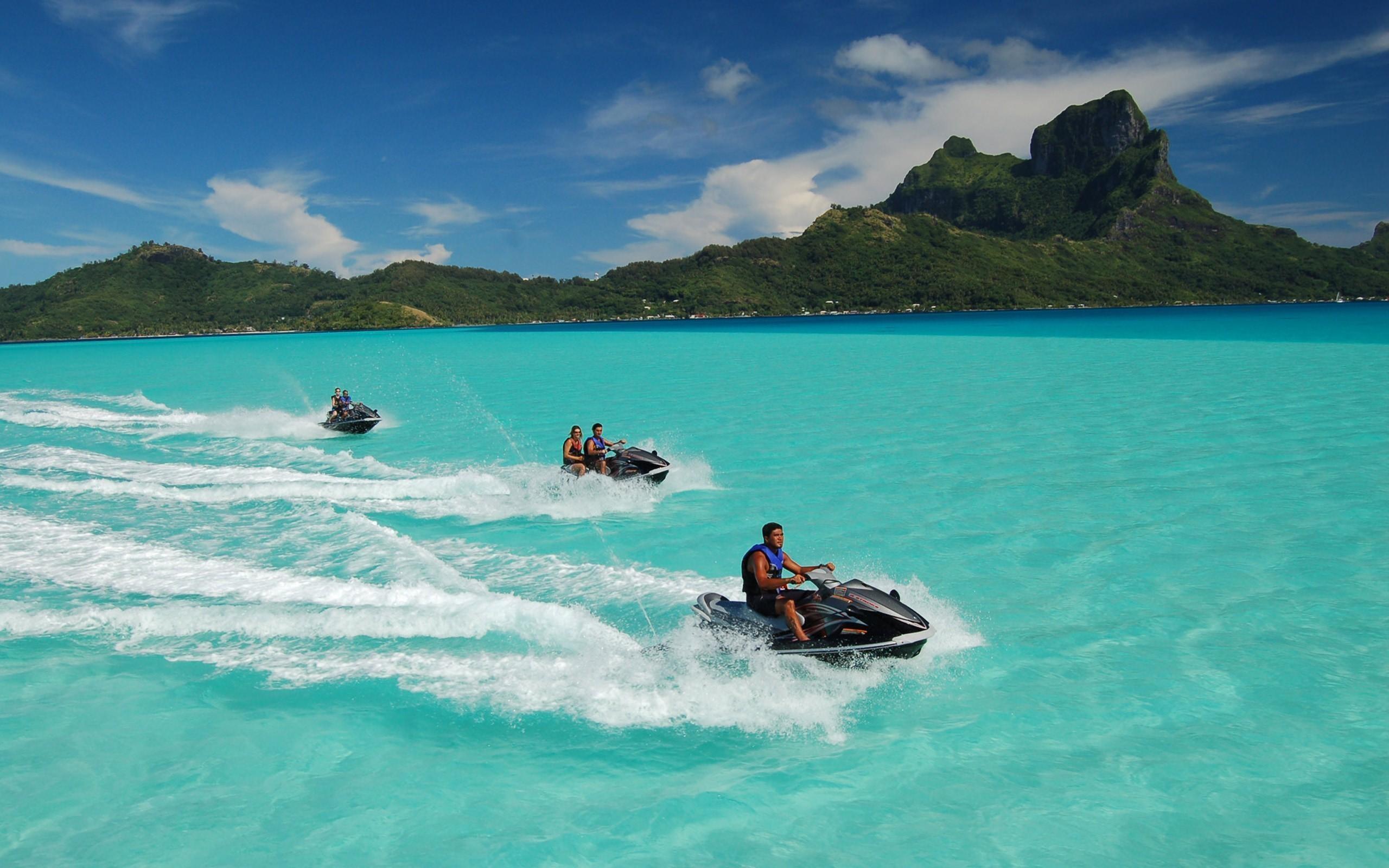 Острова, остров, Бора- Бора, французкая полинезия обои скачать