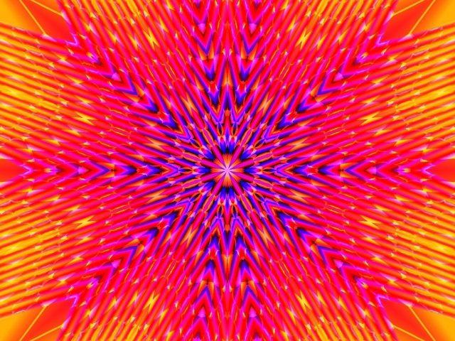 Розовый художественных красок цифровое искусство абстрактный калейдоскоп