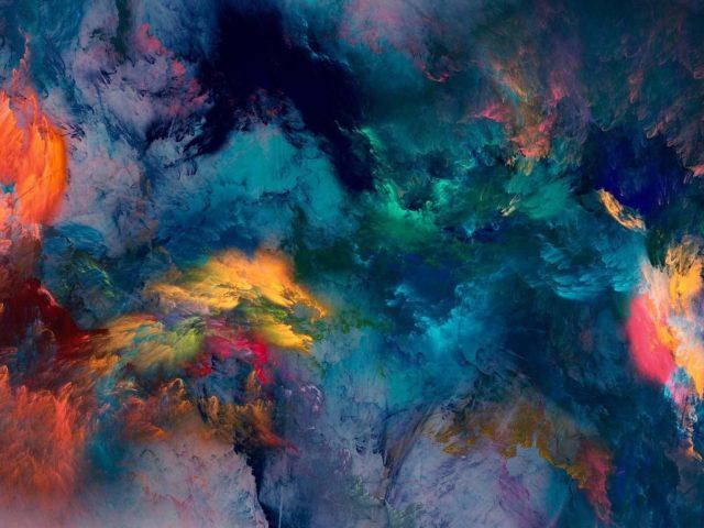 Художественный красочные акриловые текстурой фэнтези аннотация