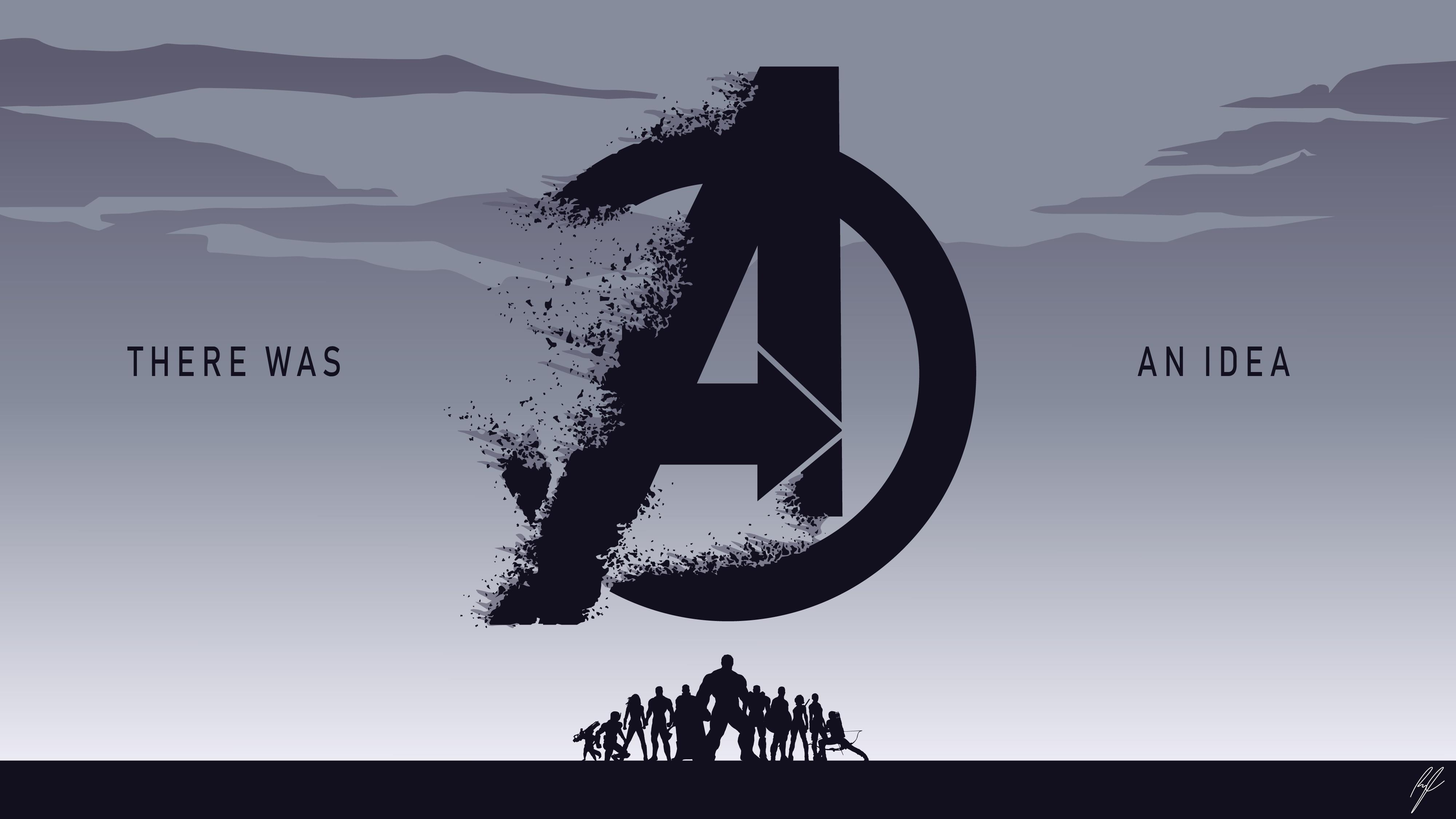 Мстители Эндшпиль минимальное произведение искусства обои скачать