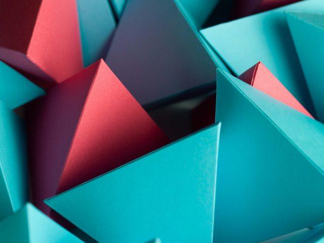 3D треугольник куб