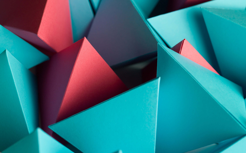 3D треугольник куб обои скачать