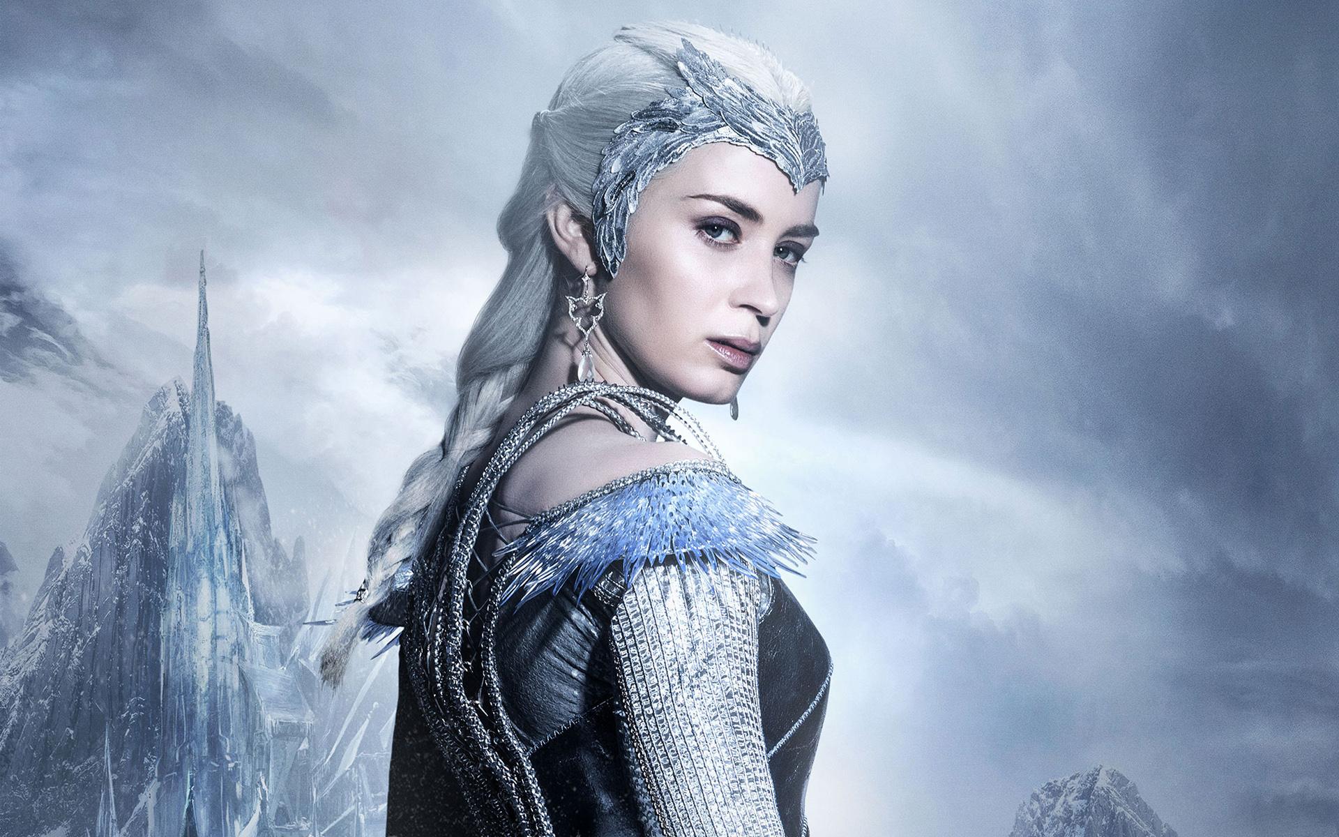 Ледяная королева войны зимний охотника. обои скачать