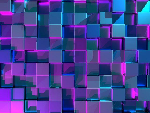 Неоновые кубики