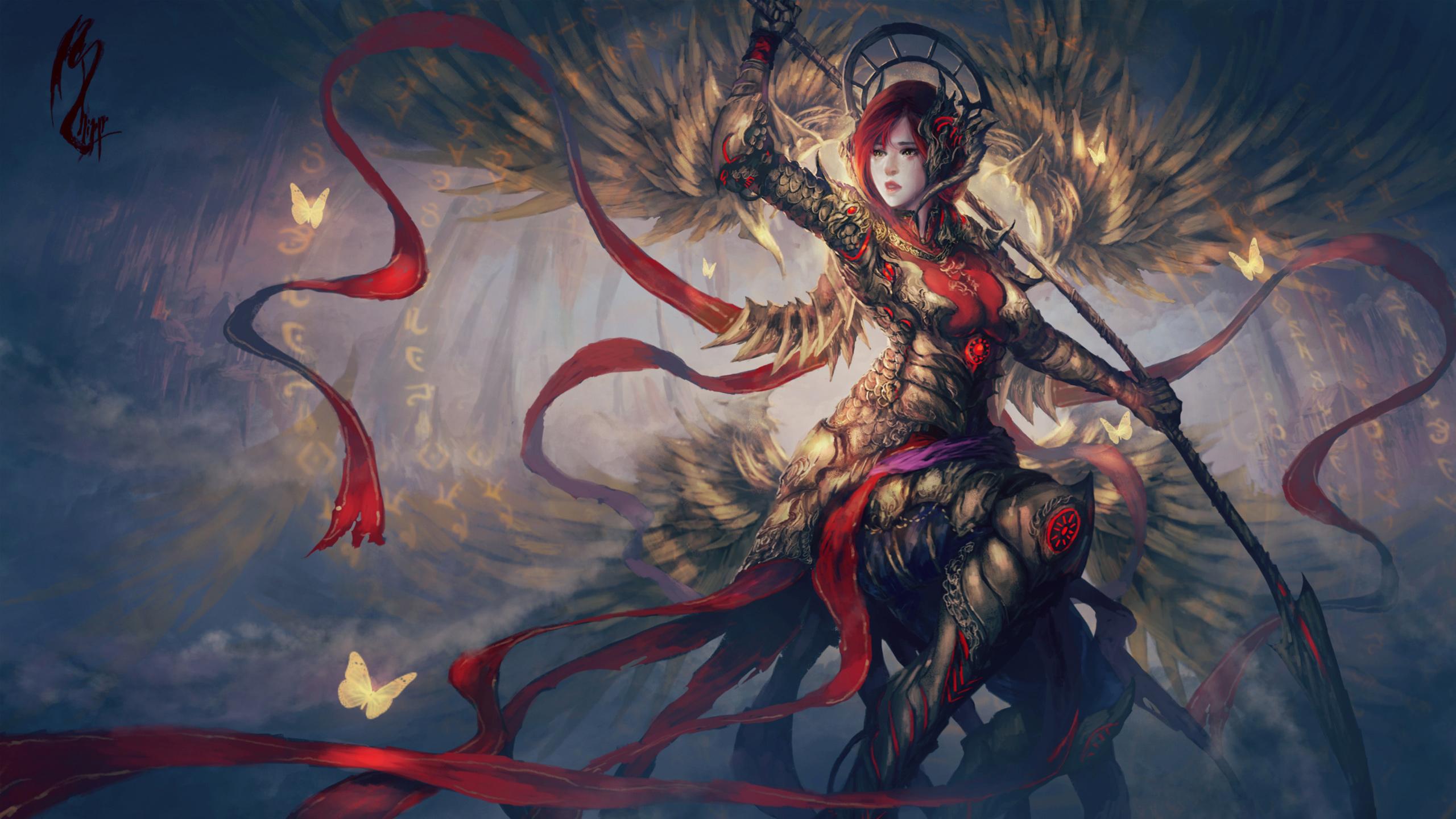 Fantasy warrior artwork. обои скачать