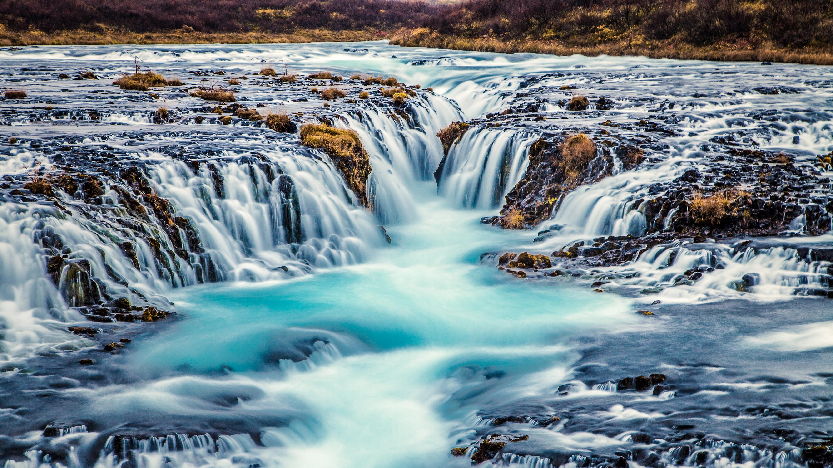 Bruarfoss водопад обои скачать
