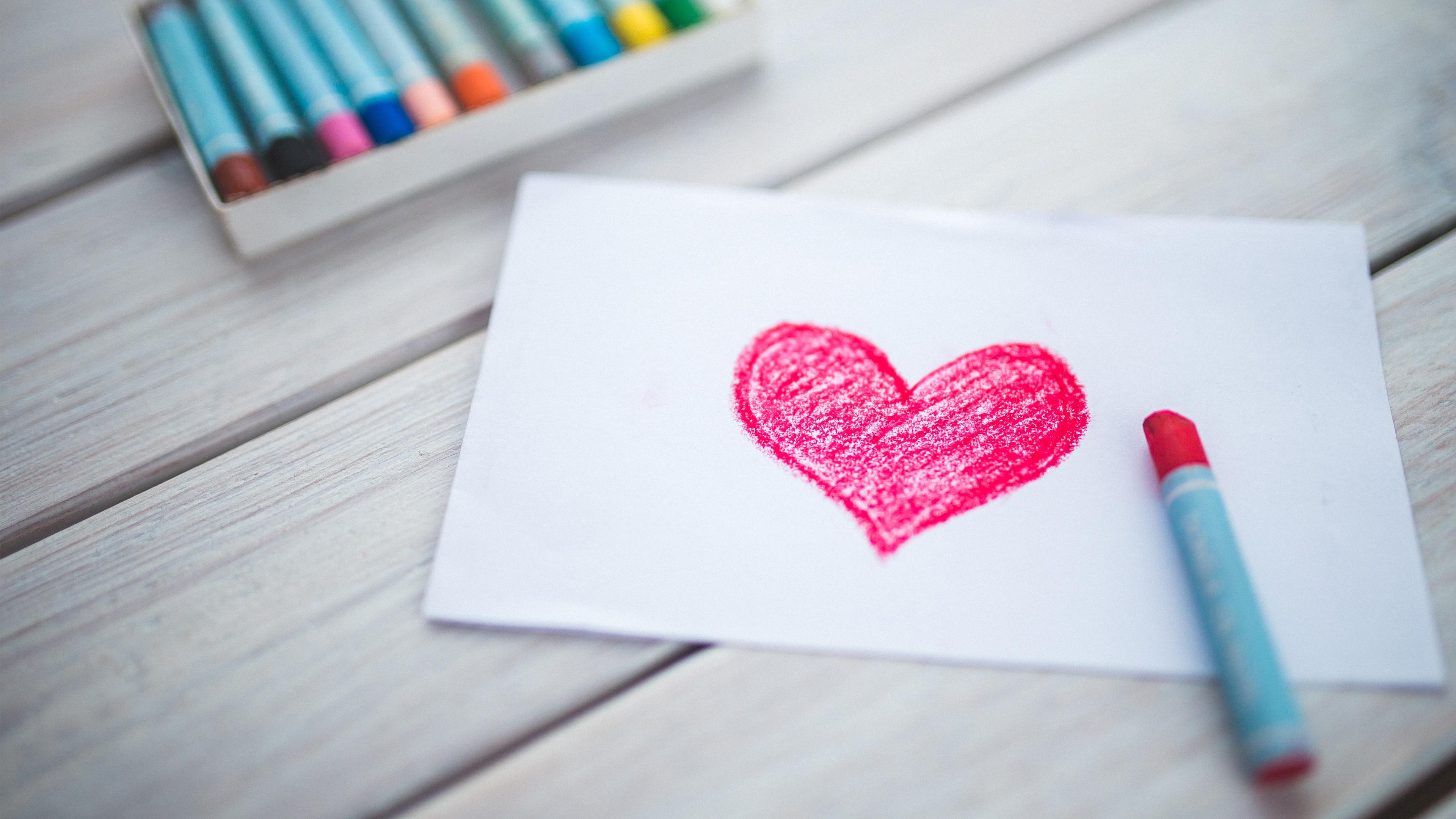 Любовь сердце эскиз. обои скачать