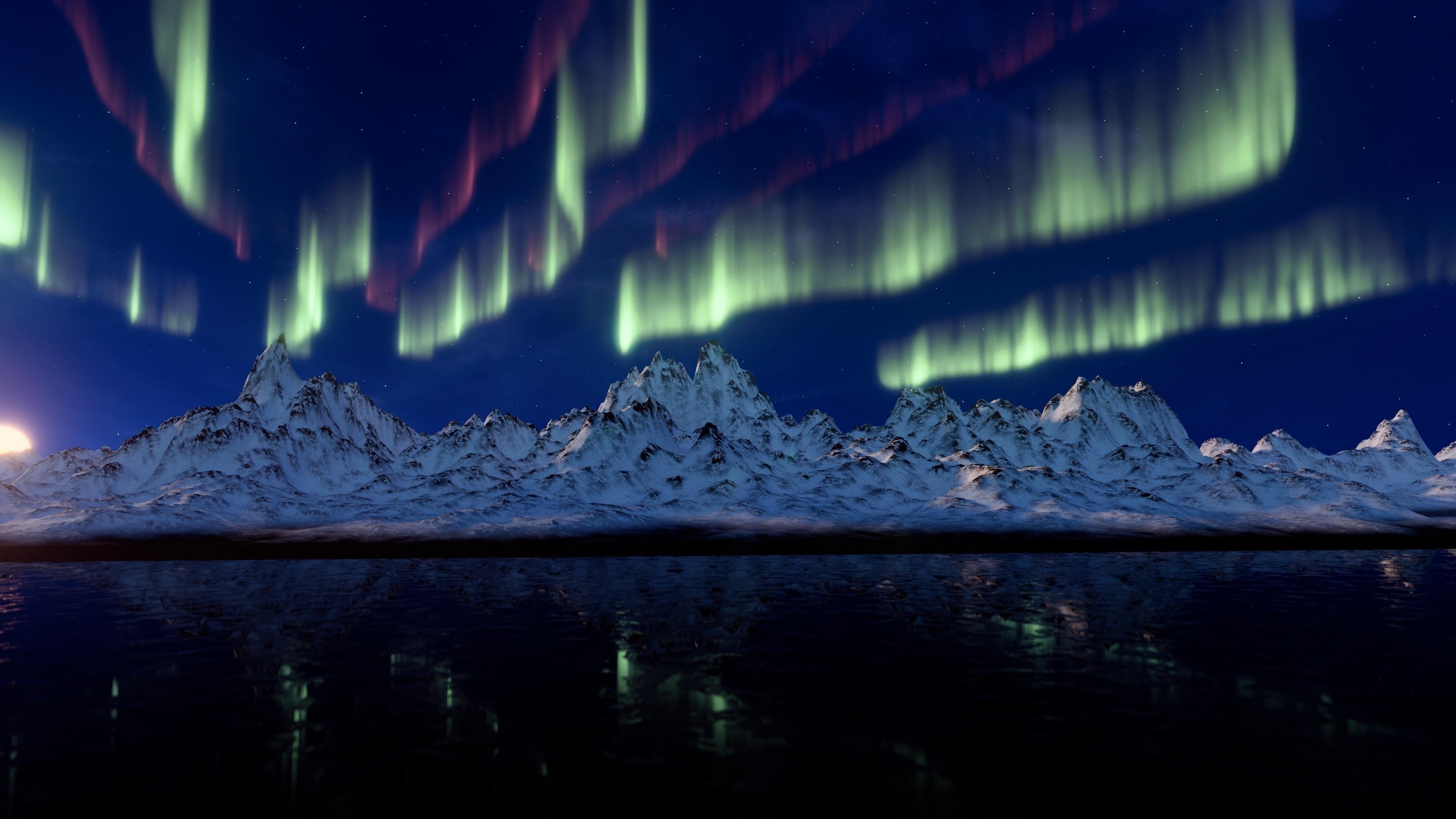 Северное сияние aurora borealis обои скачать