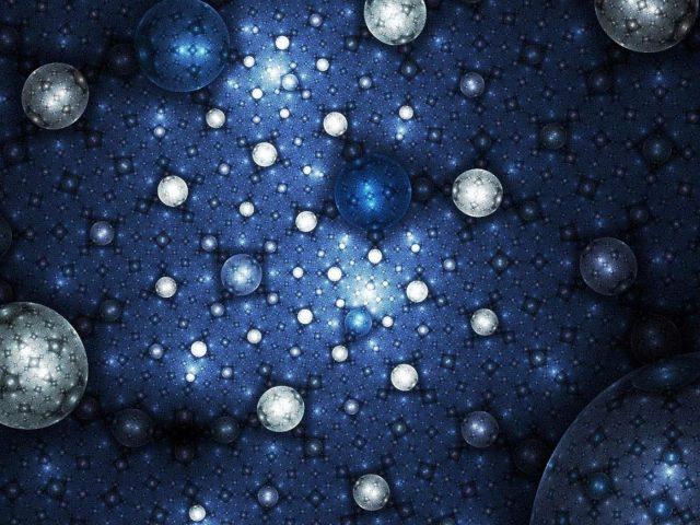 Текстура голубой планеты фрактальные звезды аннотация
