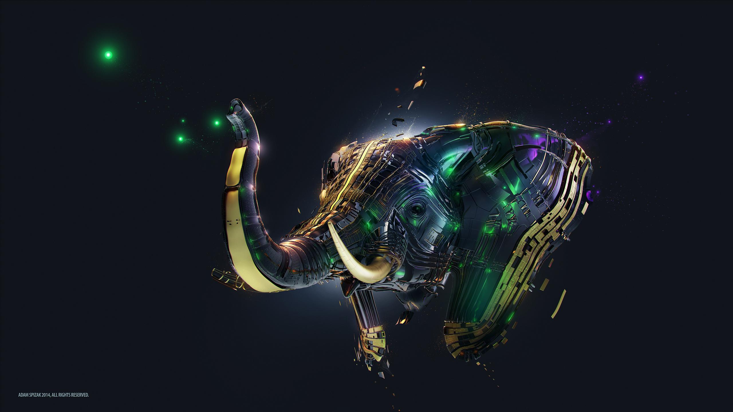 Elephant artwork. обои скачать