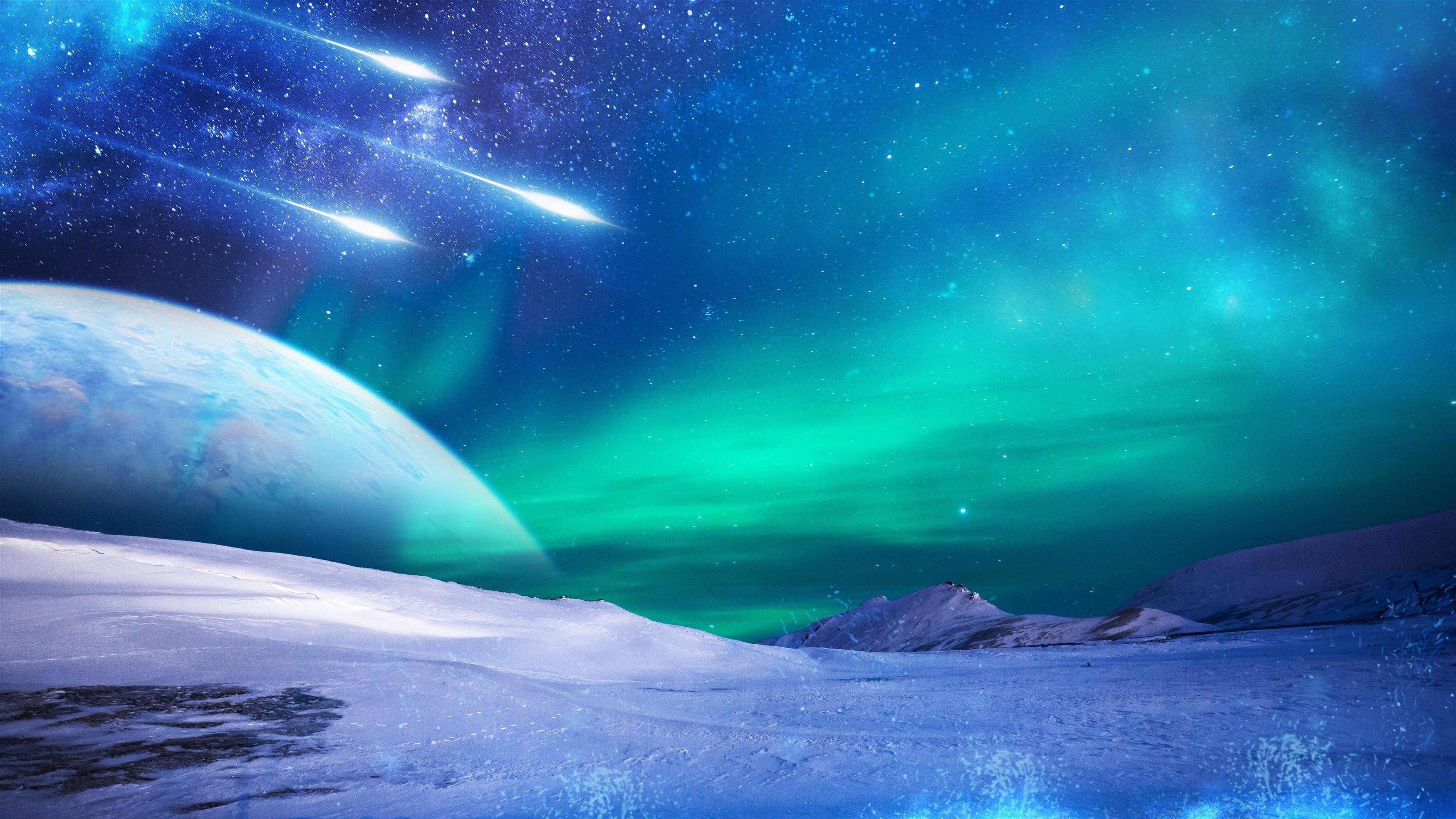 Замерзшие небеса обои скачать