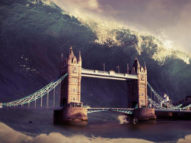 Волна лондонский Тауэрский мост