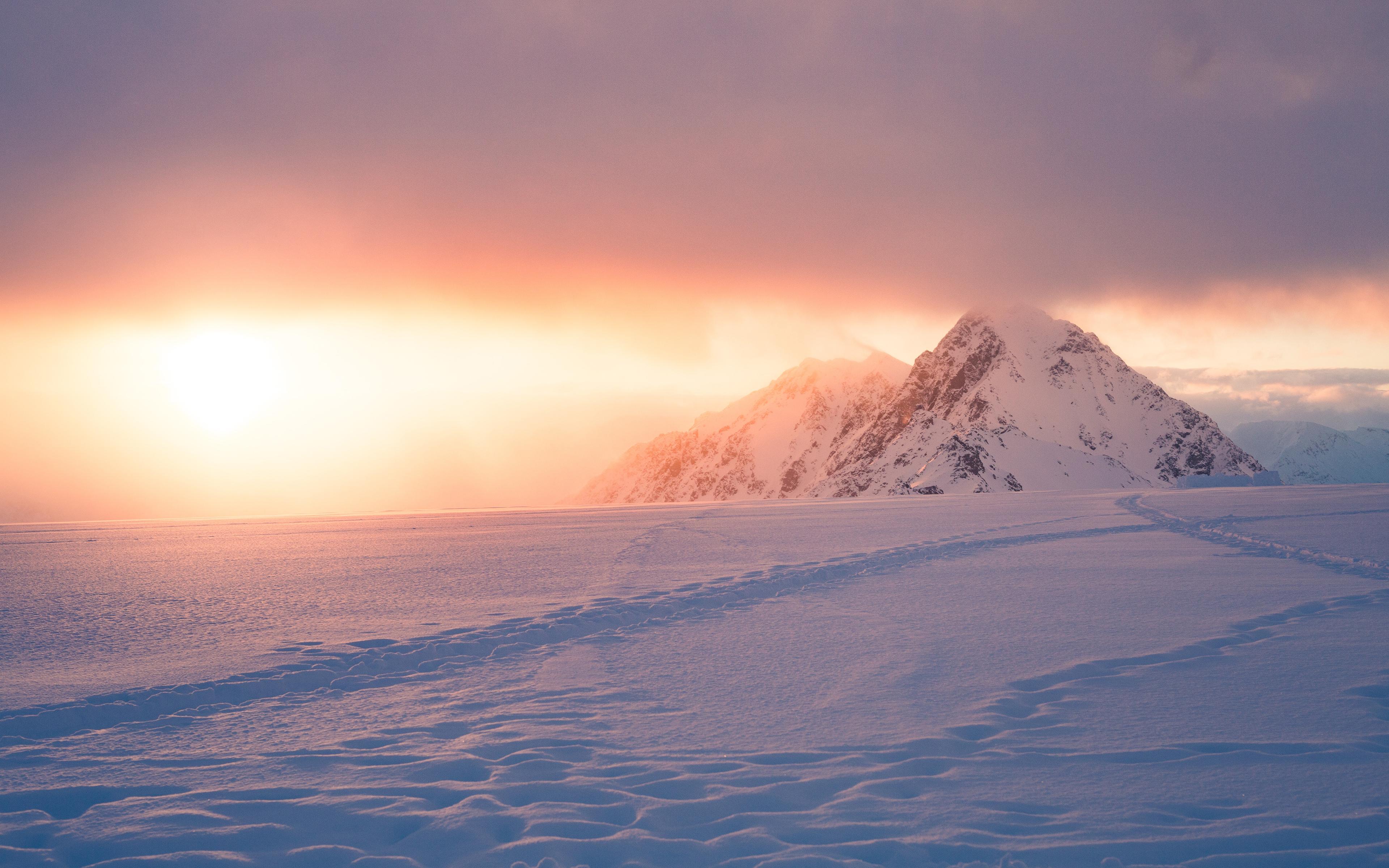 Восход зимы обои скачать