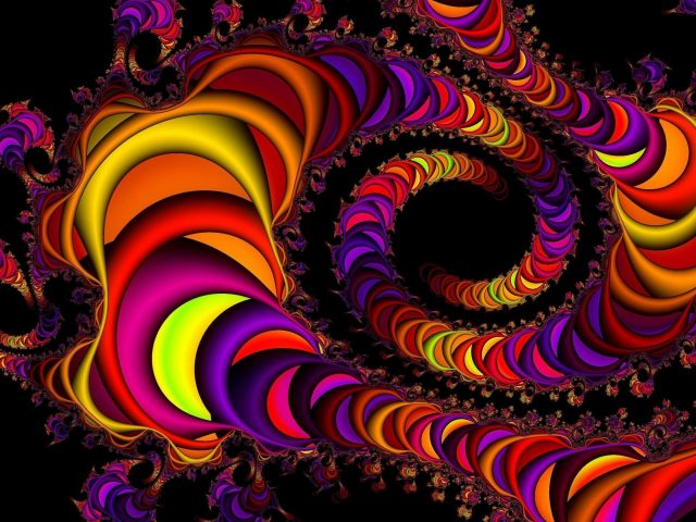 Красочная триппи абстракция абстрактное художественное произведение