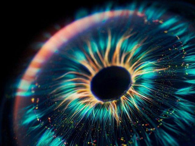 Красочное цифровое искусство глаз фрактальная абстракция абстракция