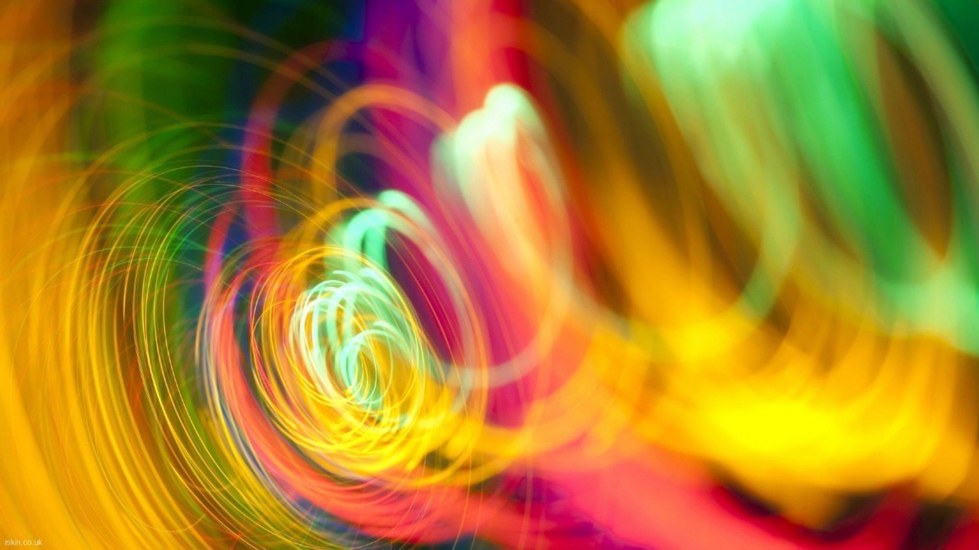 Красочные спиральные волнистые линии абстракция абстракция обои скачать