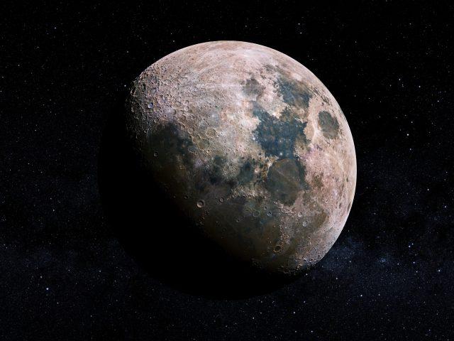Lunar craters moon.