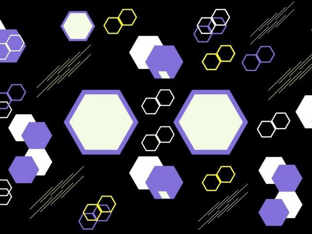 Формы черный белый желтый hd абстракция